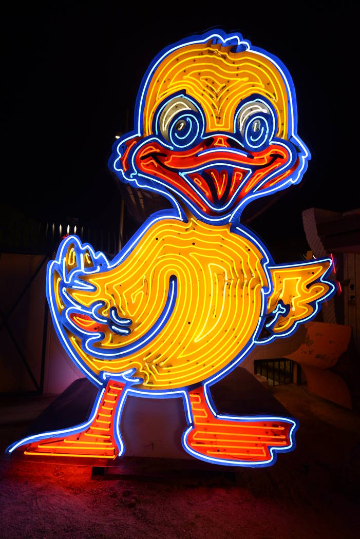 The Ugly Duckling neon sign undergoes a transformation. (The Vox Agency)