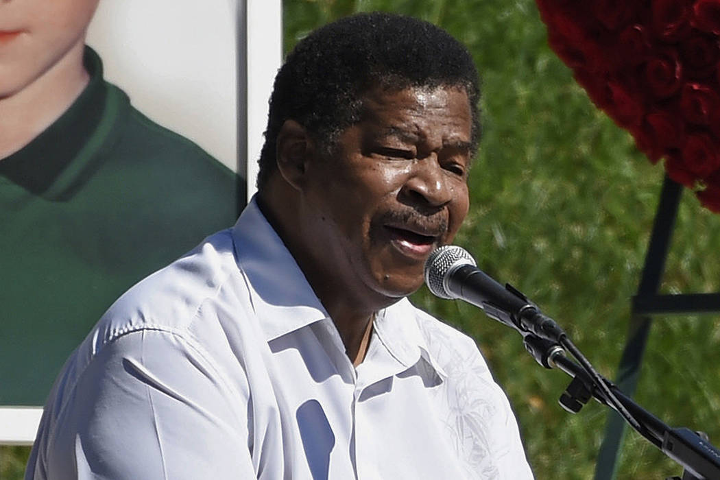 "FILE - In this Oct. 8, 2017 file photo, singer Jerry Lawson performs the song ""Lay Down&qu ..."