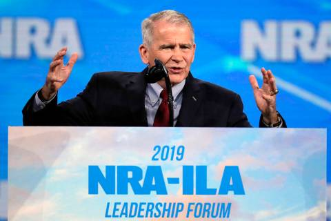 FILE - In this Friday, April 26, 2019, file photo, National Rifle Association President Col. Ol ...