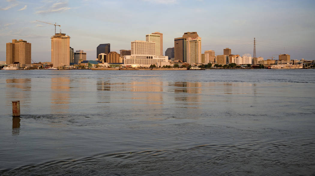 The Mississippi River is at 16 feet, which is just below flood stage, 17 feet, in New Orleans, ...