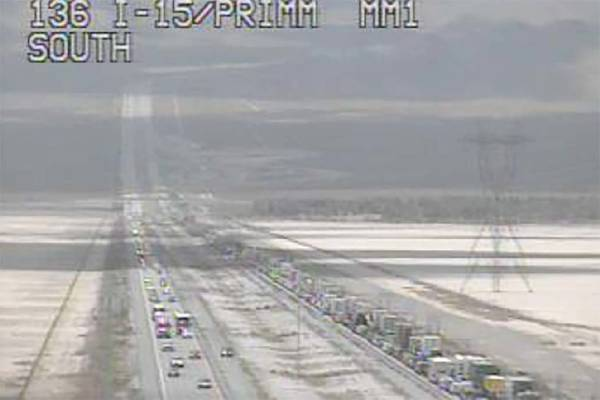I-15 lanes south of Las Vegas reopen after medical