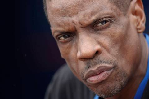 "In this March 13, 2017, file photo, Former New York Mets pitcher Dwight ""Doc"" Gooden watches ba ..."