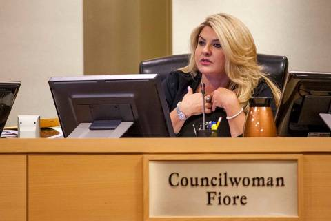 Councilwoman Michelle Fiore. (Patrick Connolly/Las Vegas Review-Journal) @PConnPie