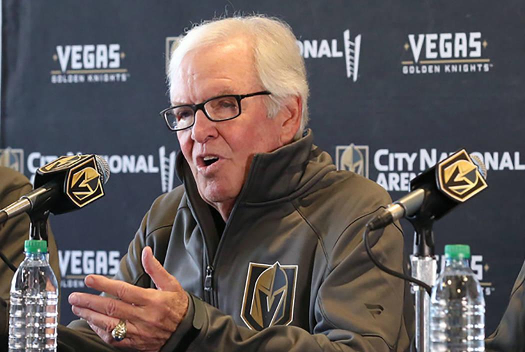Golden Knights owner Bill Foley (Bizuayehu Tesfaye/Las Vegas Review-Journal)