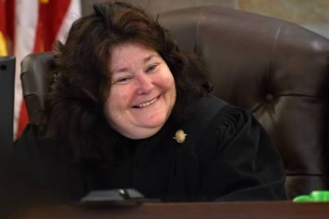 District Court Judge Elizabeth Gonzalez (David Becker/Las Vegas Review-Journal)