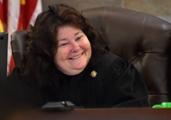 District Court Judge Elizabeth Gonzalez (David Becker/Las Vegas Review-Journal)