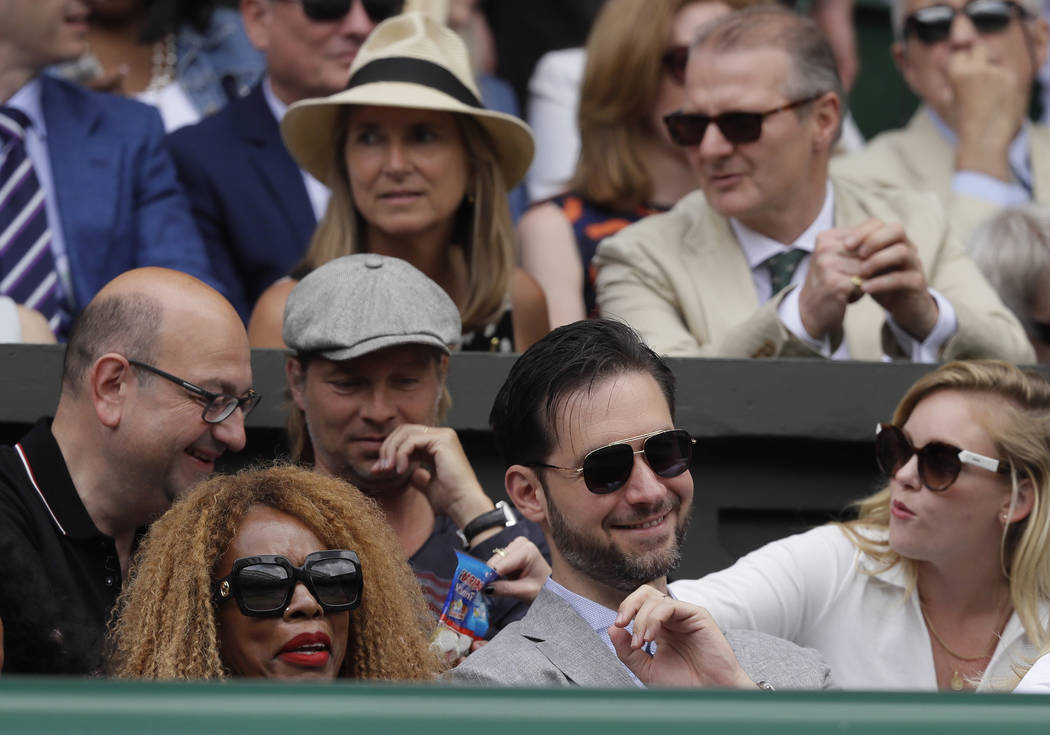 Alexis Ohanian, the husband of Serena Williams of the United States, and her mother Oracene Pri ...