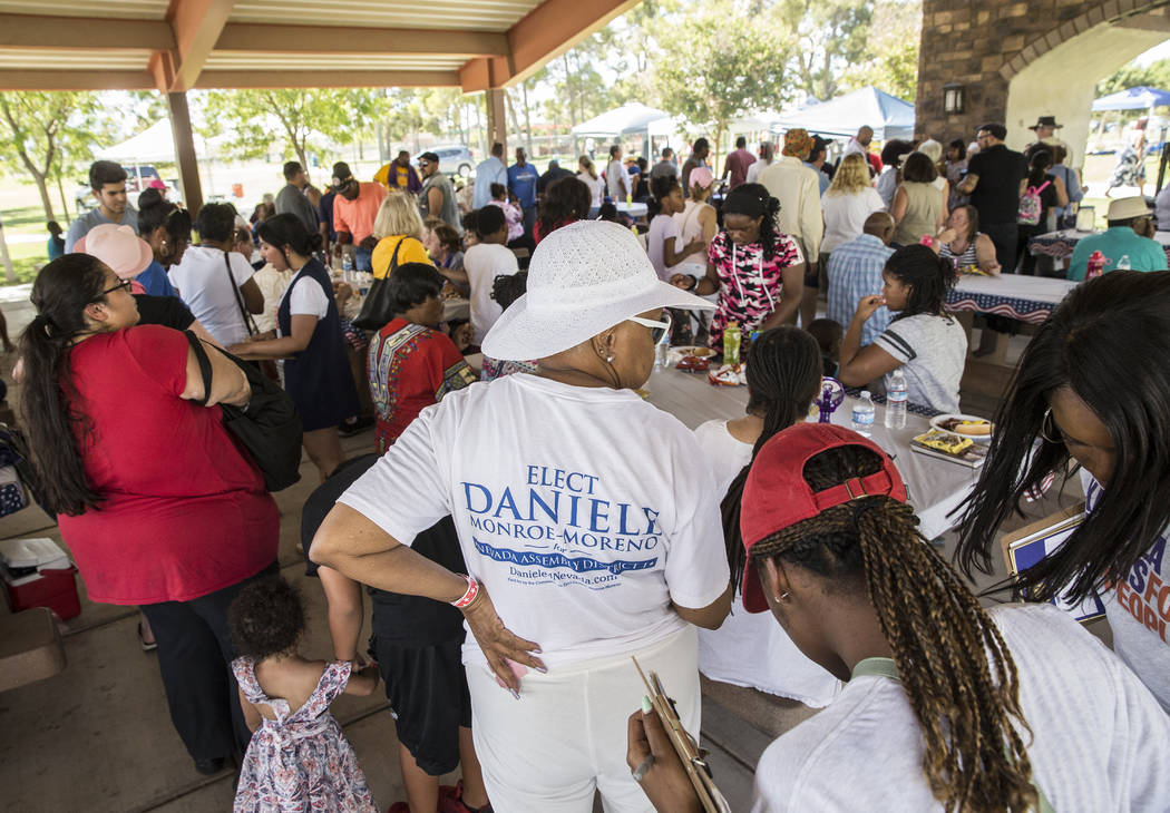 Hundreds of people showed up for the 5th Annual Community BBQ on Saturday, July 13, 2019, at Cr ...