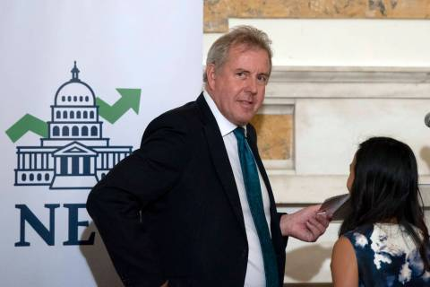 FILE - In this Friday, Oct. 20, 2017, file photo, British Ambassador Kim Darroch hosts a Nation ...