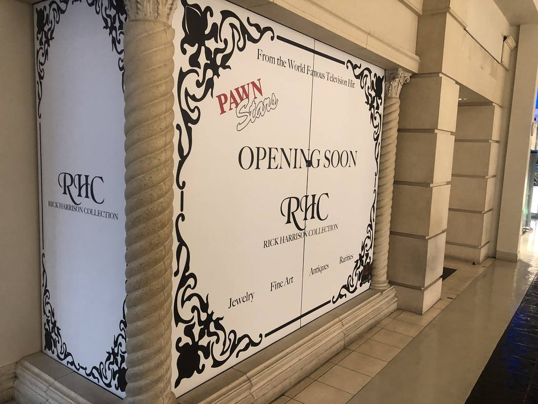 A look at the under-construction Rick's Collection at the Grand Canal Shoppes at the Venetian, ...