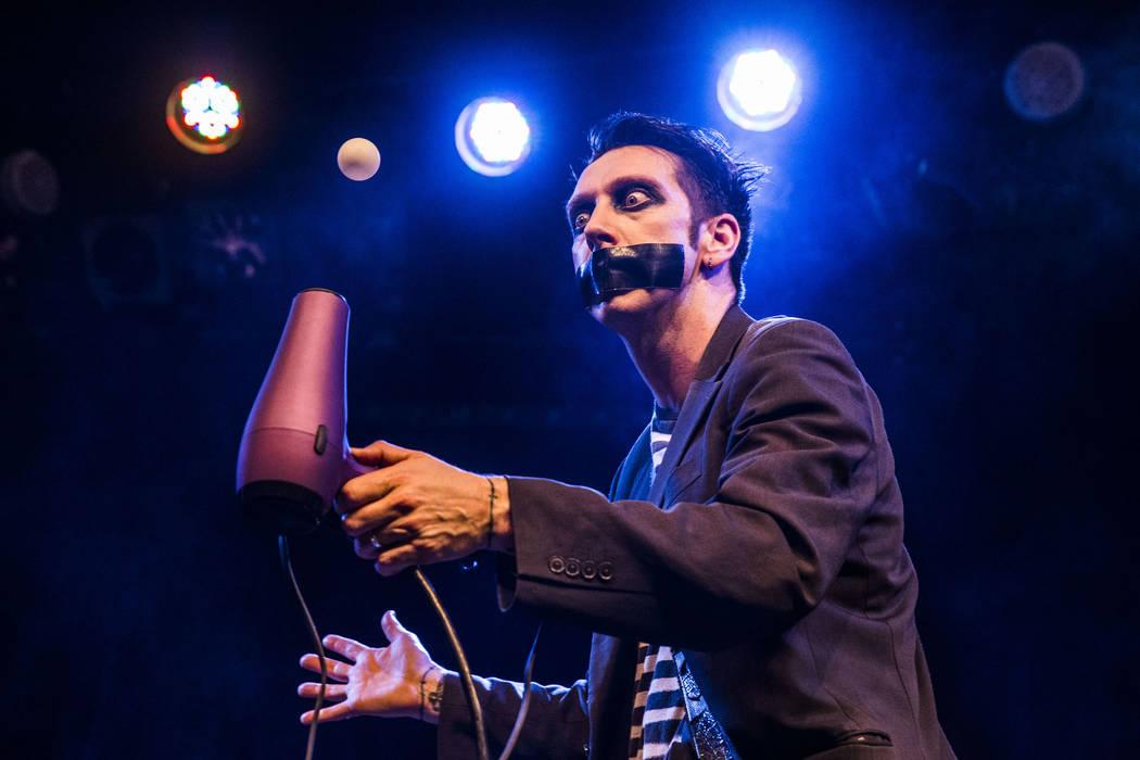Sam Wills, aka Tape Face, an America's Got Talent Season 11 finalist, performs at the Flamingo ...
