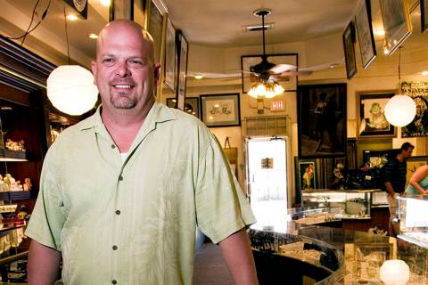 Rick Harrison stands inside the Gold & Silver Pawn Shop in downtown Las Vegas. (Las Vegas Revie ...