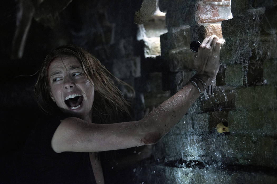 """This image released by Paramount Pictures shows Kaya Scodelario in a scene from """"Crawl.&qu ..."""