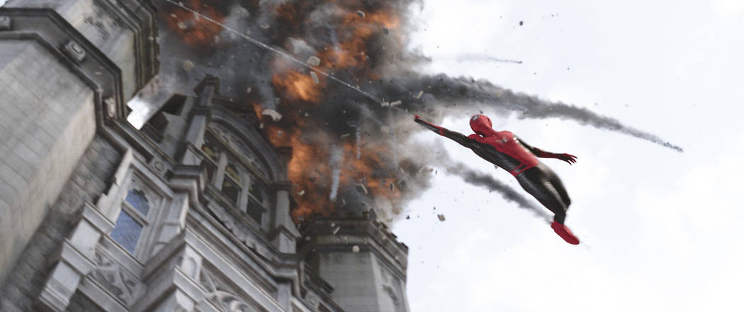 """This image released by Sony Pictures shows a scene from """"Spider-Man: Far From Home."""" ..."""