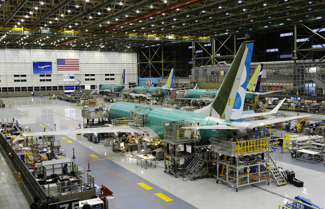 FILE - This Dec. 7, 2015, file photo shows the second Boeing 737 MAX airplane being built on th ...