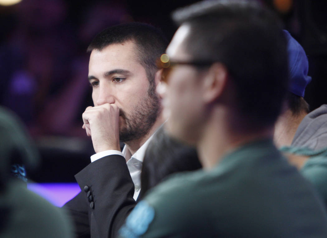 Dario Sammartino at the main event final table during the World Series of Poker at the Rio hote ...