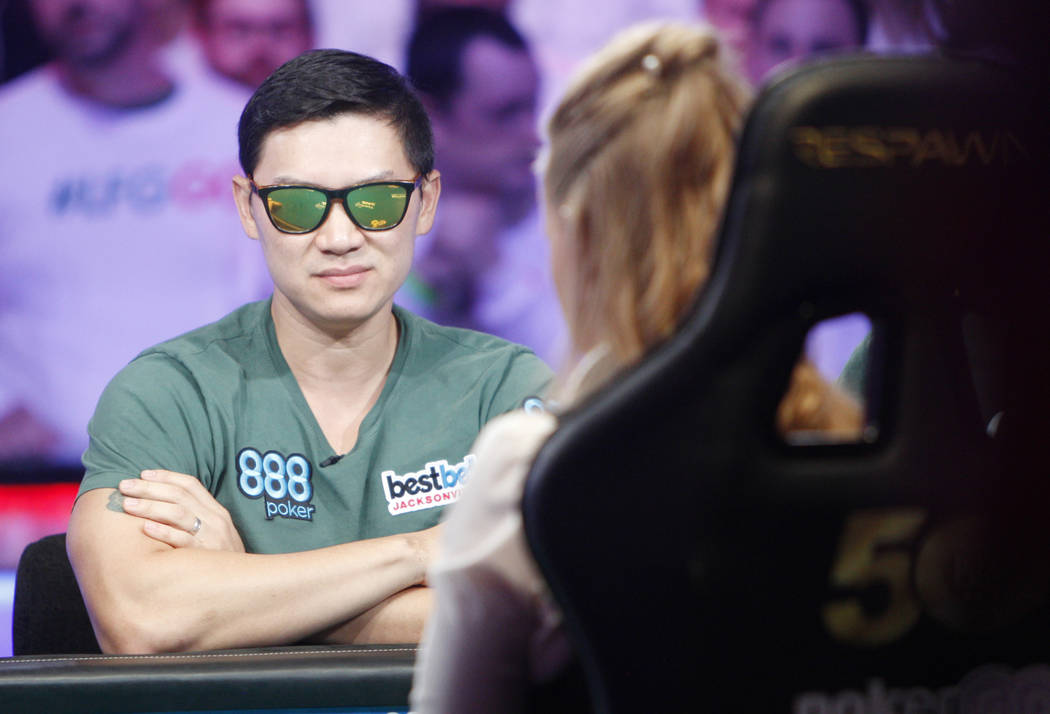 Zhen Cai at the main event final table during the World Series of Poker at the Rio hotel-casino ...