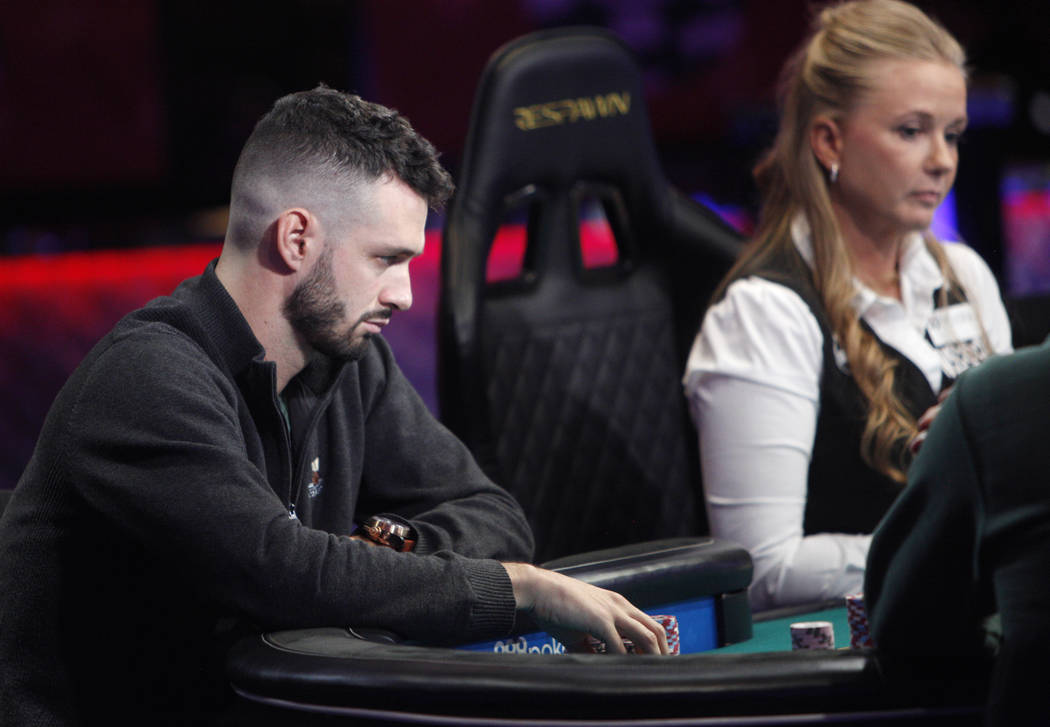 Alex Livingston at the main event final table during the World Series of Poker at the Rio hote ...