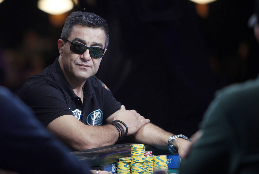 Hossein Ensan at the main event final table during the World Series of Poker at the Rio hotel- ...