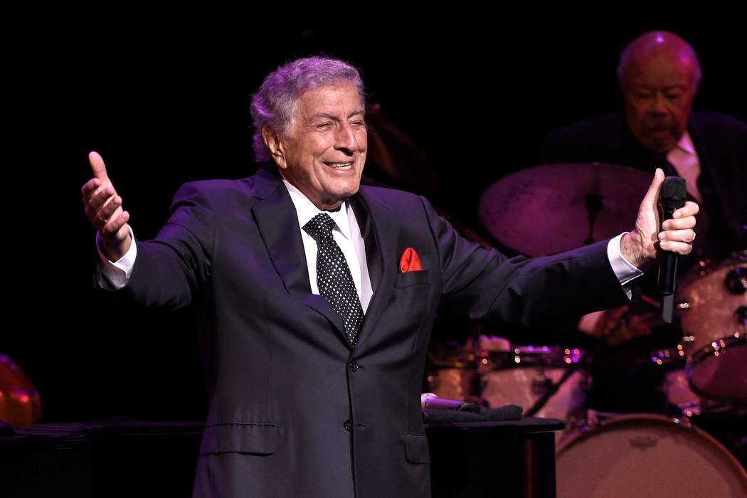 Recording artist Tony Bennett performs at the Encore Theater at Wynn Las Vegas on Nov. 1, 2017, ...