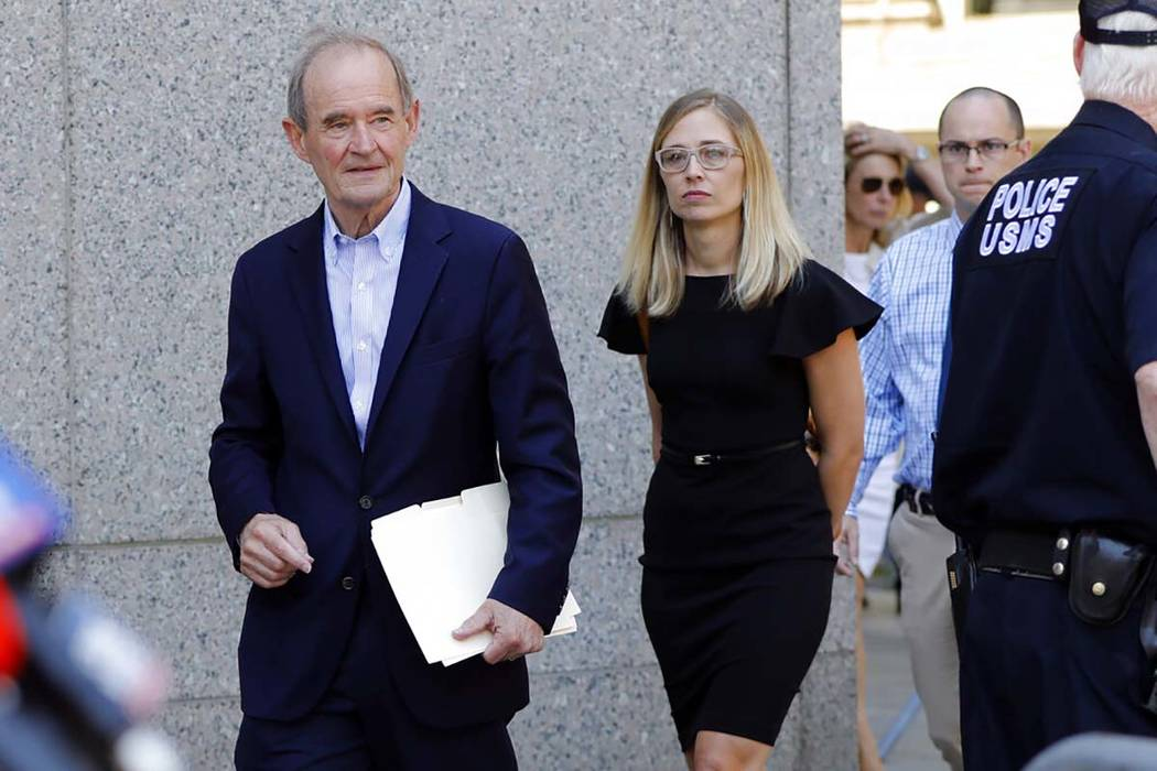 Attorneys David Boies, and Annie Farmer, one of Jeffrey Epstein's accusers who spoke in court, ...