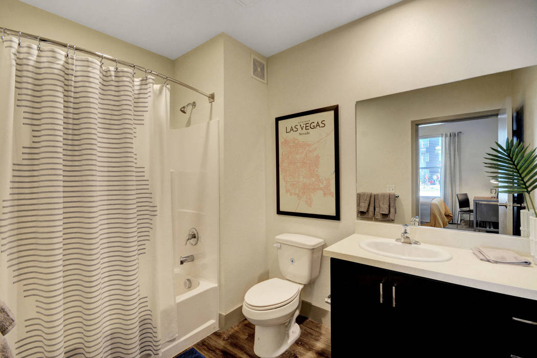 Every bedroom at The Degree has its own private bath and ample closet storage. (The Midby Cos.)