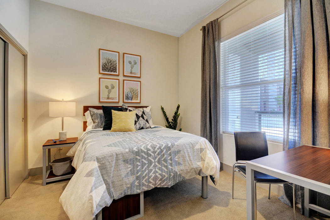 The Degree offers students upscale modern, fully apartments in a variety of two- and four-bedro ...