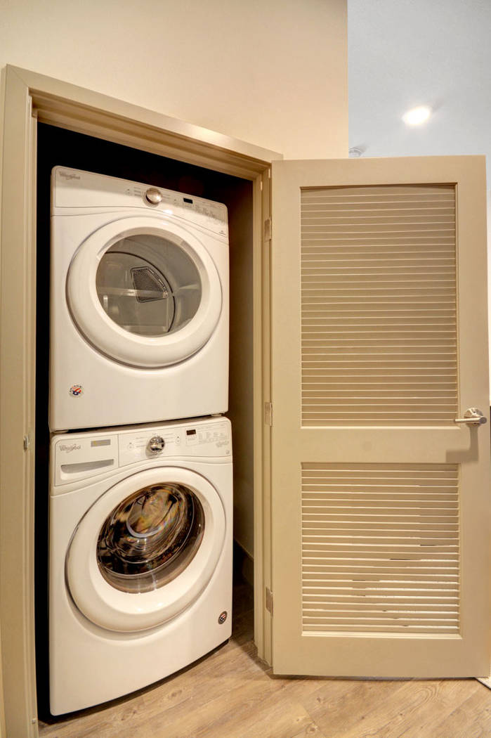 Each apartment has its own in-unit washer and dryer. (The Midby Cos.)