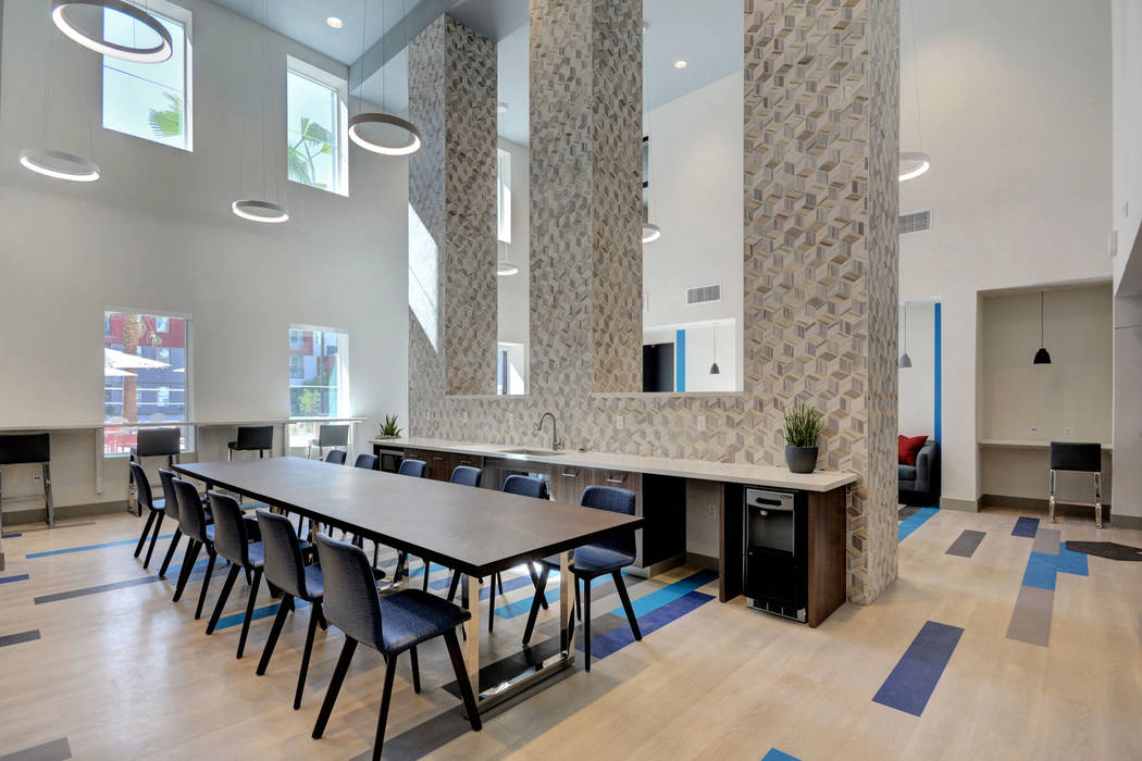 The new, five-story mid-rise is at 4259 S. Maryland Parkway on the northeast end of the UNLV ca ...
