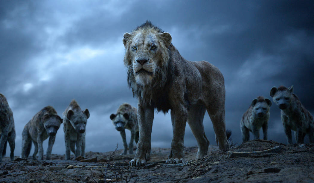 "This image released by Disney shows Scar, voiced by Chiwetel Ejiofor, in a scene from ""The Lion ..."