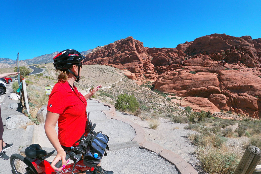 The Red E Bike offers tours of Red Rock Canyon's Scenic Loop from an electric bike. (Mat Lusche ...