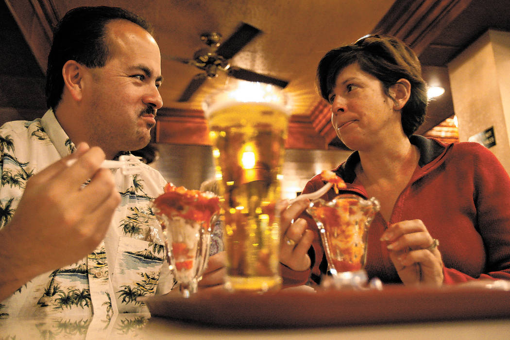 Eddie and Norma Alvarado have the Golden Gate's classic shrimp cocktail in 2008. By that time ...