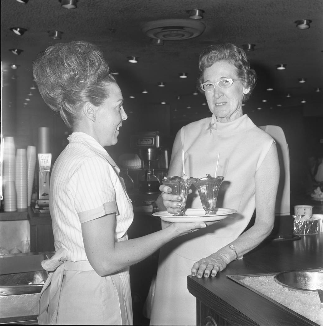 Gladys Reed, left, and Johnnie Wilson at the Golden Gate back when the shrimp cocktail was 50 c ...