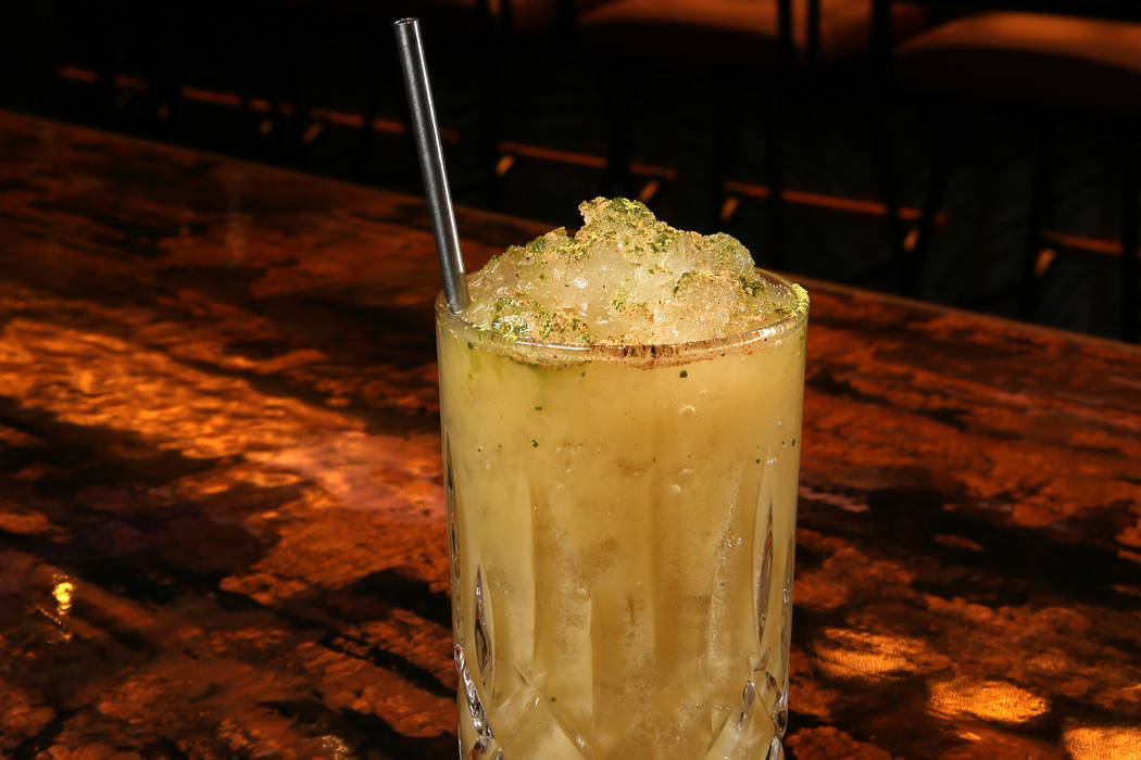 The Letters From Lee cocktail at Mott 32 at Palazzo in Las Vegas Thursday, July 11, 2019. (K.M. ...