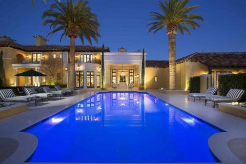 The mansion at 1717 Enclave Court in Las Vegas sold for $13 million in March 2018. (Queensridge ...