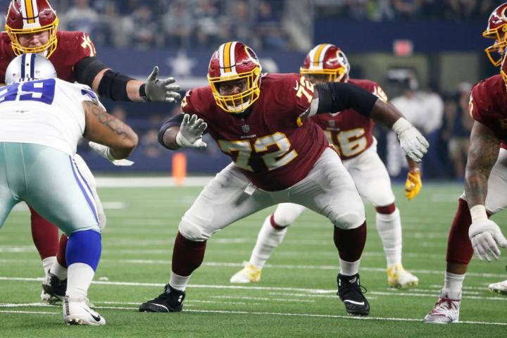 Washington Redskins offensive guard Jonathan Cooper (72) during the second half of an NFL footb ...