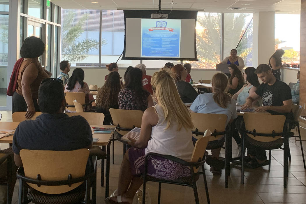About 30 people filled a conference room at the Las Vegas City Hall on July 11 to learn more ab ...