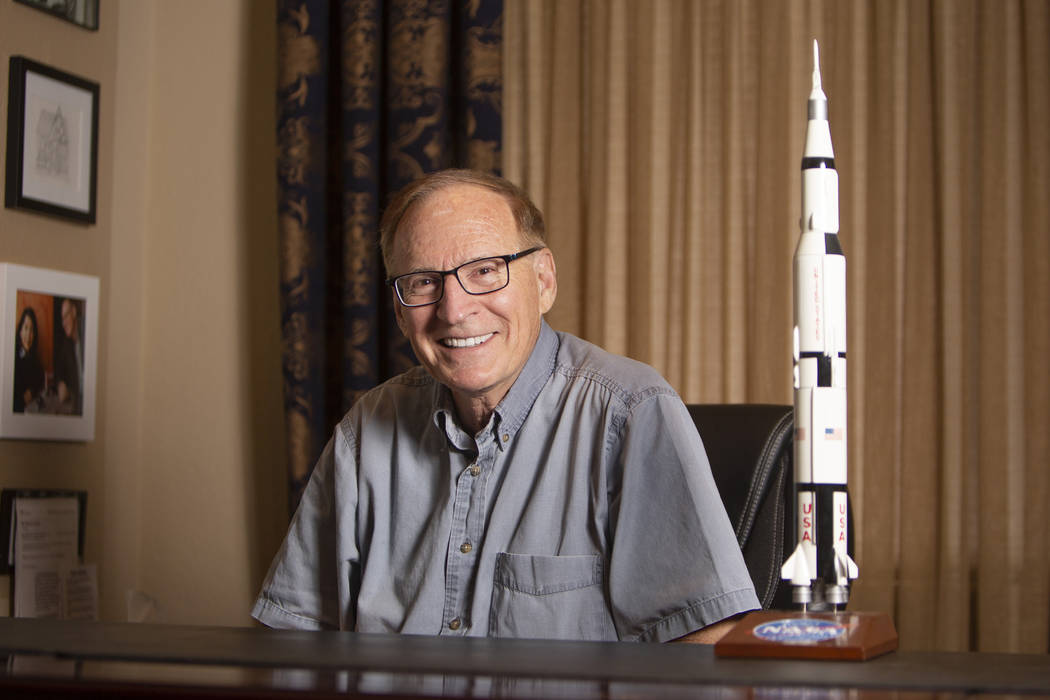 William Corney, retired UNLV business professor, was an engineer during the Apollo 11 Mission t ...