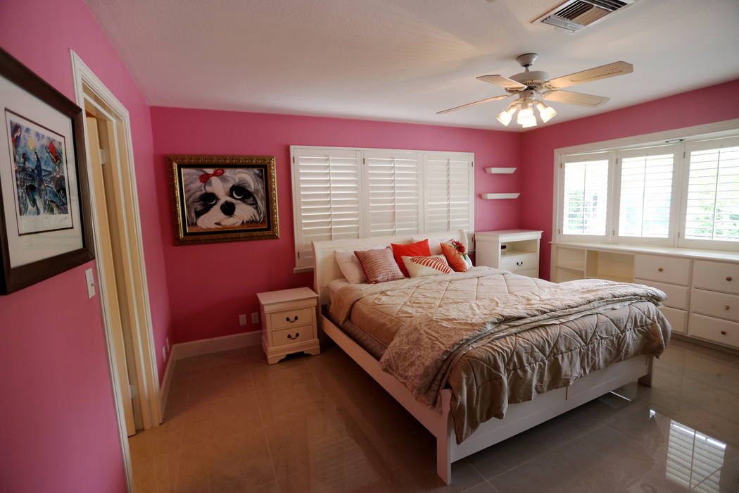 A bedroom at the former house of Jerry Lewis in Las Vegas, Wednesday, May 15, 2019. Jane Popple ...