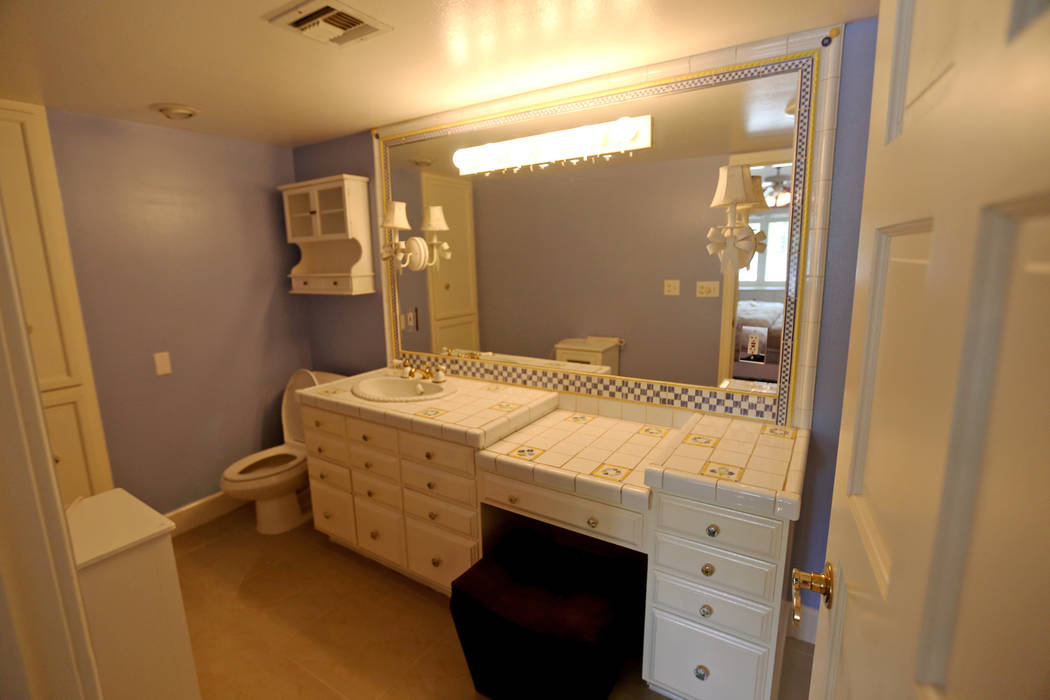 A bathroom at the former house of Jerry Lewis in Las Vegas, Wednesday, May 15, 2019. Jane Poppl ...