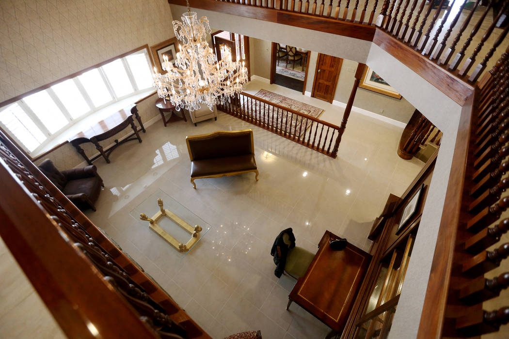 The front room at the former house of Jerry Lewis in Las Vegas, Wednesday, May 15, 2019. Jane P ...