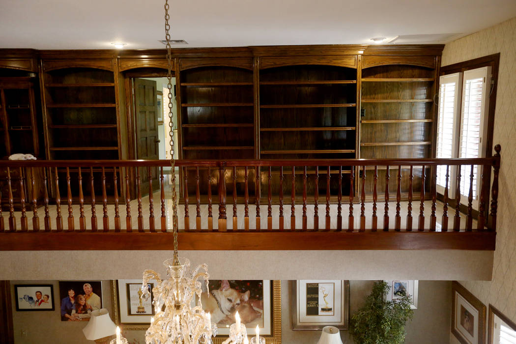 Bookshelves at the former house of Jerry Lewis in Las Vegas, Wednesday, May 15, 2019. Jane Popp ...