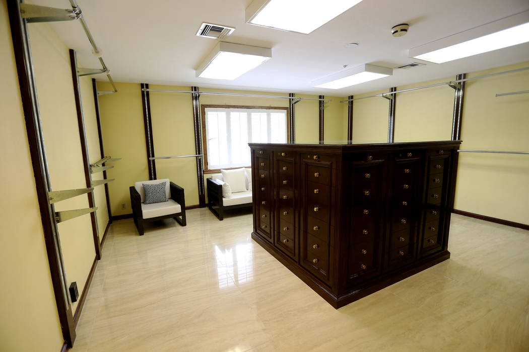 A bedroom converted into a closet at the former house of Jerry Lewis in Las Vegas, Wednesday, M ...