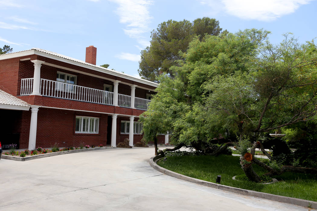 The former house of Jerry Lewis in Las Vegas, Wednesday, May 15, 2019. Jane Popple bought the p ...