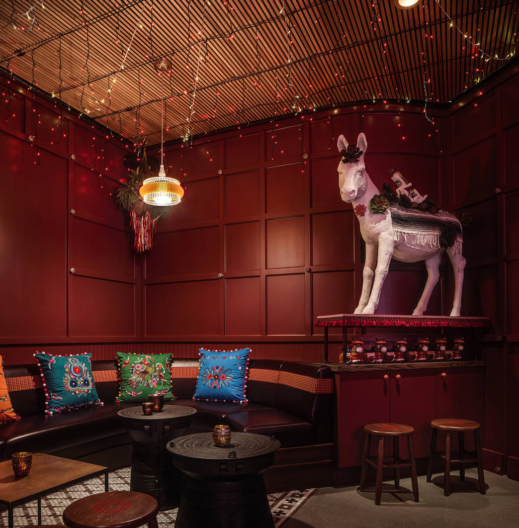 Guests who venture through the Ghost Donkey door will find a south-of-the-border-themed party r ...