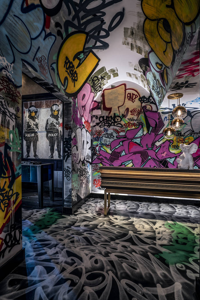 The tunnel painted by NYC-based graffiti artist CES pays homage to New York City's iconic str ...