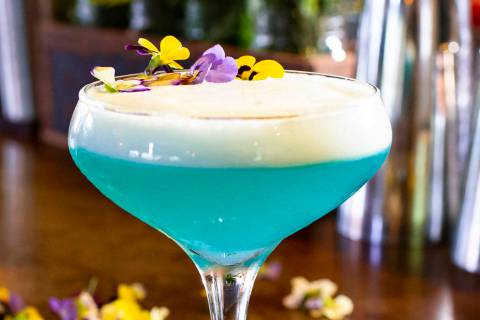 Tangled Up in blue cocktail at Yardbird. Allied Global Marketing