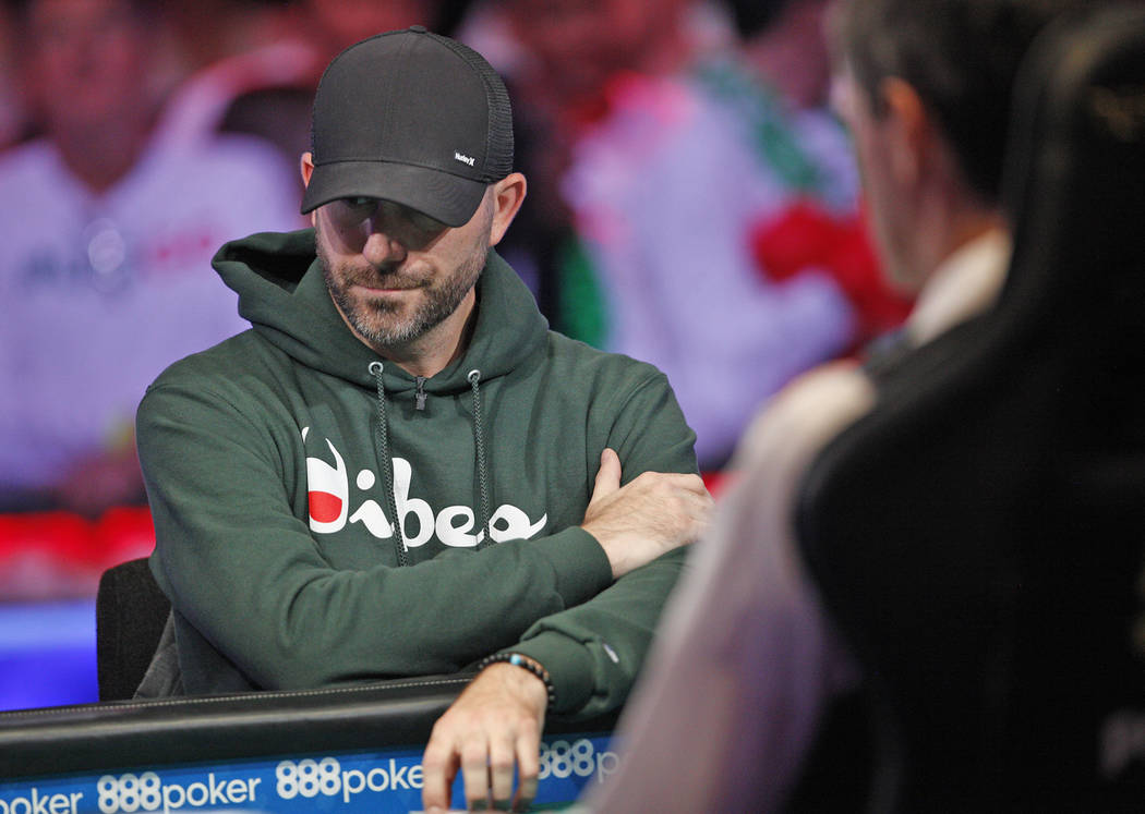 Gary Gates on the second day of the main event final table at the World Series of Poker tournam ...
