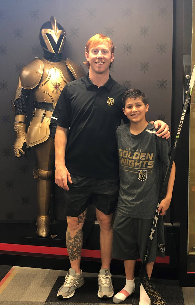 A 13-year-old Las Vegas boy who has faced Hodgkin's lymphoma is treated to a special day by t ...