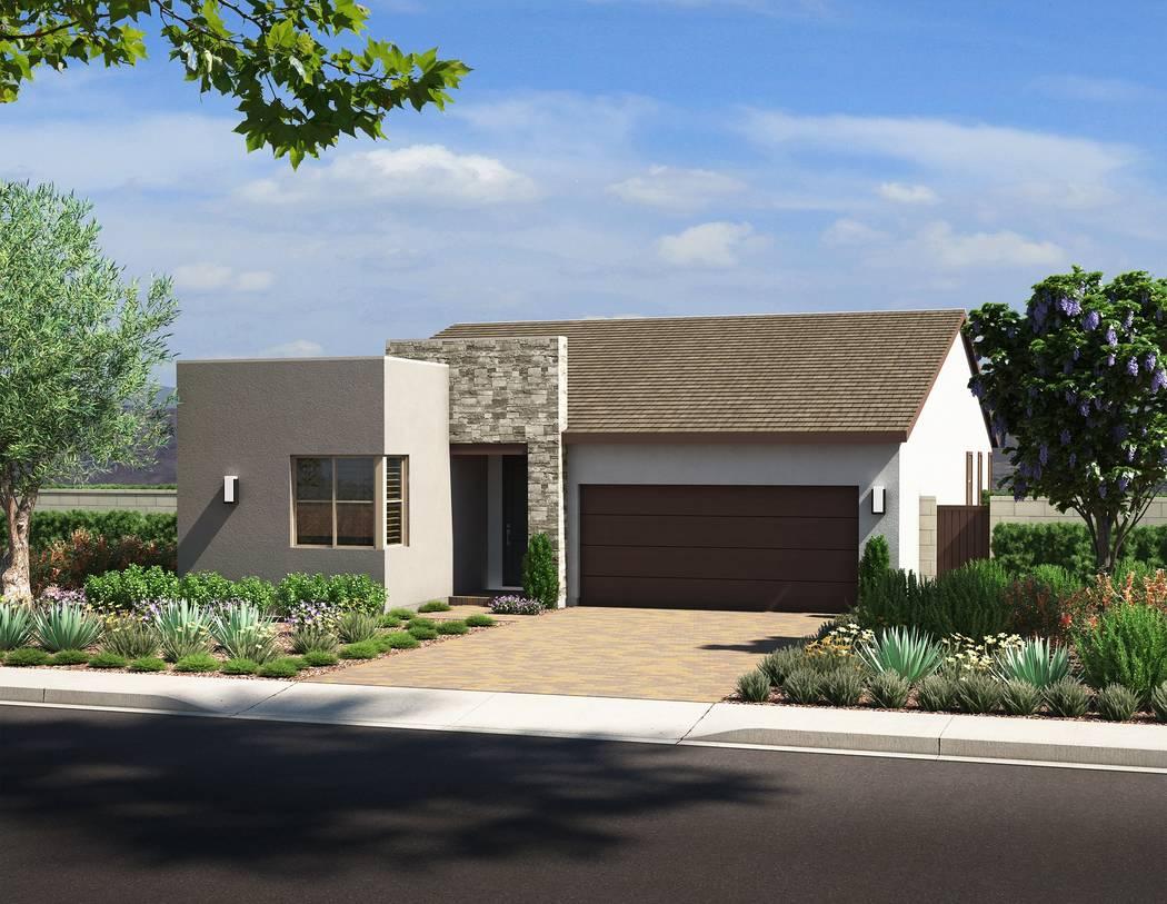 Pardee Homes' Larimar neighborhood in The Villages at Tule Springs in North Las Vegas has a n ...